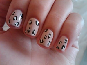 Guess Who's Wearing This Leopard-Print Manicure?