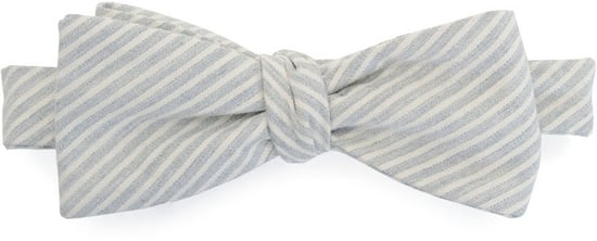 Stripe Bow Tie - Grey