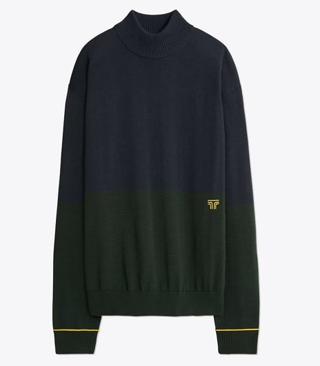 Performance Cashmere Color-Block Sweater