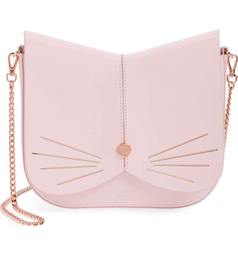 Ted Baker Cat Leather Crossbody Bag