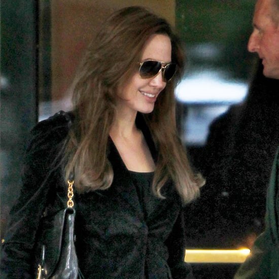 Angelina Jolie Leaving Dorchester Hotel in London