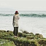 Feeling the ocean on your feet.
