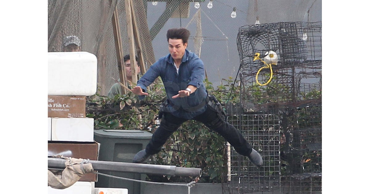 Tom Cruise lept onto a pole while filming in Long Beach in 2010