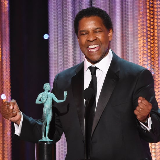 Denzel Washington Winning First SAG Award GIF 2017