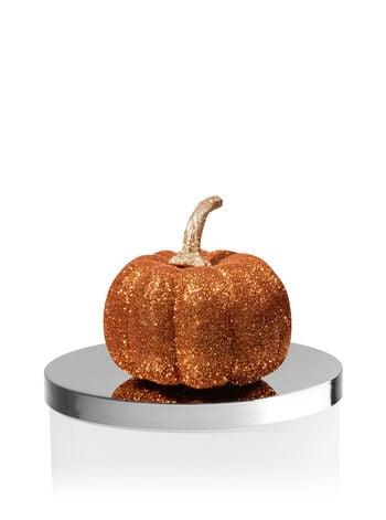 Glittery Orange Pumpkin Candle Magnet