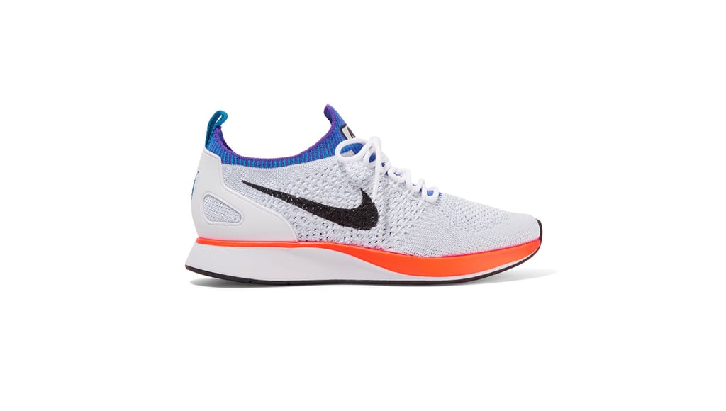 Nike Air Zoom Mariah Leather-Trimmed Flyknit Sneakers