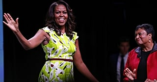 Michelle Obama's Bright Summer Dress Is Practically Commanding Your Attention With a Megaphone