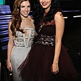 Anna Kendrick met up with Katy Perry at the Grammy Awards.
