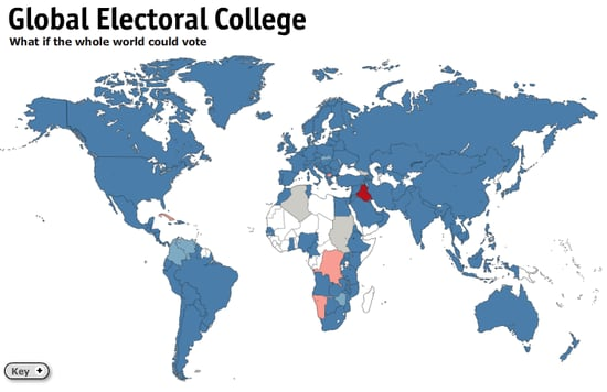 Where I'm Clicking Now: Global Electoral College