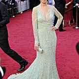 Bérénice Bejo wore Elie Saab on the Oscars red carpet.