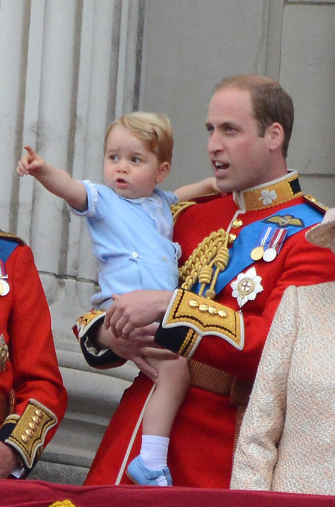 Prince George and Kate Middleton at Trooping the Colour 2015