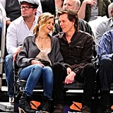 The two shared a laugh as they watched the New York Knicks take on the Boston Celtics at Madison Square Garden in March 2011.