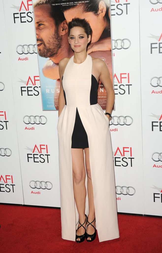 Marion Cotillard paired her dress with black heels.