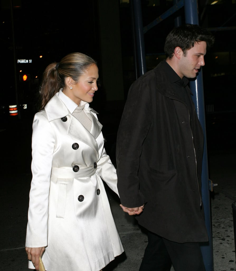 Jennifer had that look of love during their outing in NYC in October 2003.