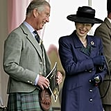 Prince Charles and Princess Anne at the 2010 Braemar Highland Games in Scotland