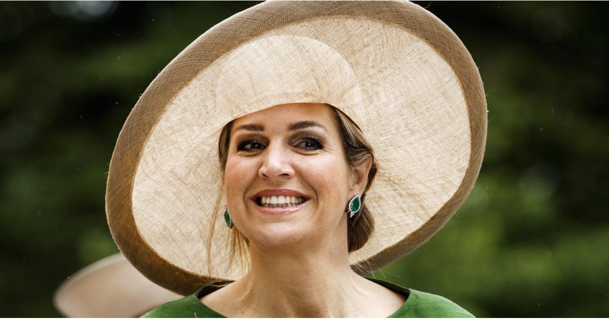 Queen Maxima Wearing a Wide-Brim Hat June 2016  d9aea2ff36f0