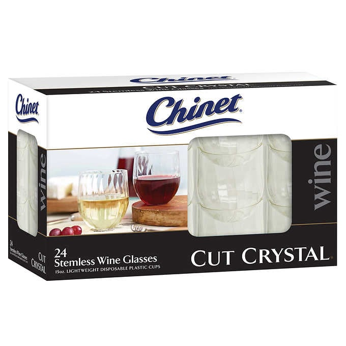 Chinet Cut Crystal Stemless Wine Glasses  sc 1 st  Popsugar & Chinet Cut Crystal Stemless Wine Glasses | Christmas Dinner Foods at ...