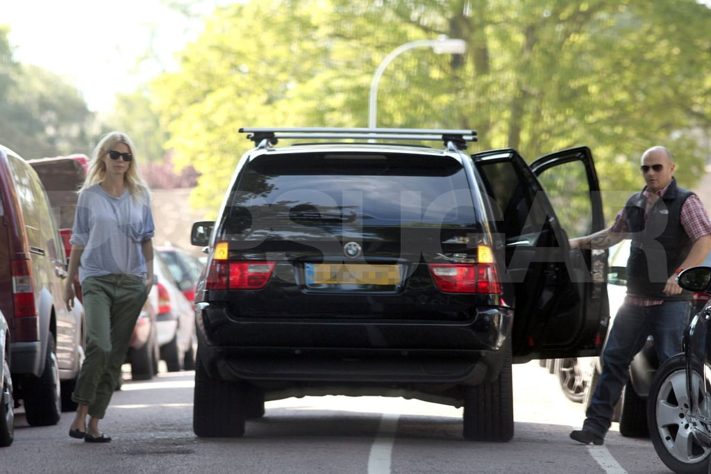 Gwyneth Paltrow driving in London.
