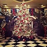 Kim Kardashian woke up to a Winter wonderland in her family's home. Source: Instagram user kimkardashian