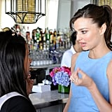 Miranda Kerr Talks Motherhood and Her Bombshell Status at a Victoria's Secret Soiree