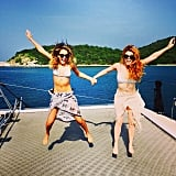 Jessica Alba soaked up the sun with her pal Lauren Anderson during their vacation in Thailand.