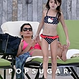 Katie Holmes and her daughter, Suri, broke out their bikinis for a pool day in Florida.
