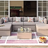 Cosiest 7-Piece Outdoor Furniture Warm Family Sectional