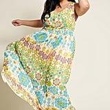 ModCloth Muster the Length Maxi Dress in Floral Dots