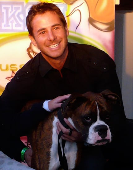 Travis and Presley at the Greatest American Dog Finale Party!