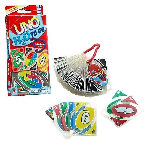 UNO H2O to Go Card Game ($10)