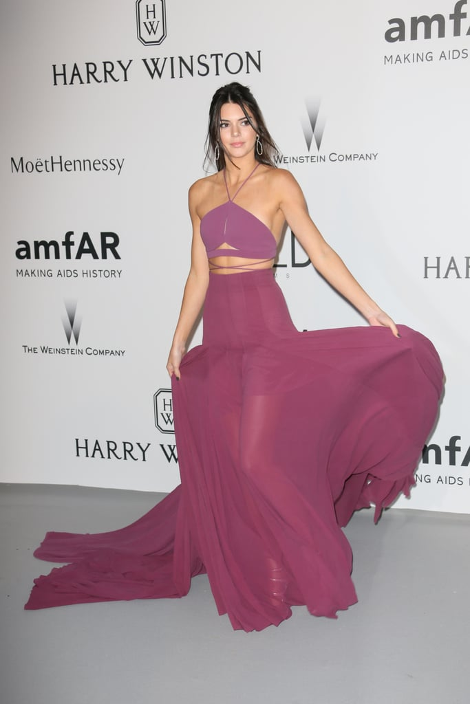 Kendall showed her midsection in a Calvin Klein Collection dress at 2015's amfAR's Cinema Against AIDS Gala.
