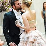 Bradley and Suki shared a cute smooch before heading inside the Met Gala.