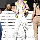 Gigi Hadid Tie-Dye Vest at Coachella 2019