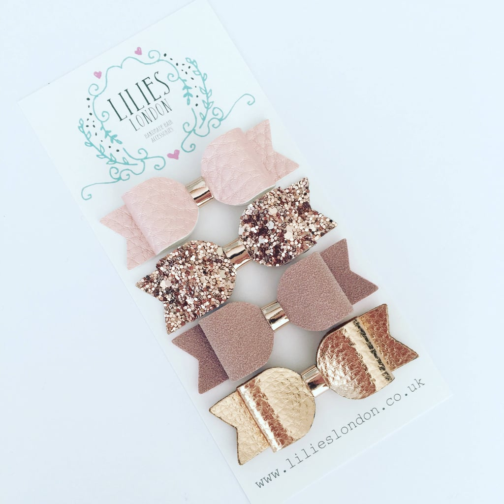 Rose Gold Hair Bows