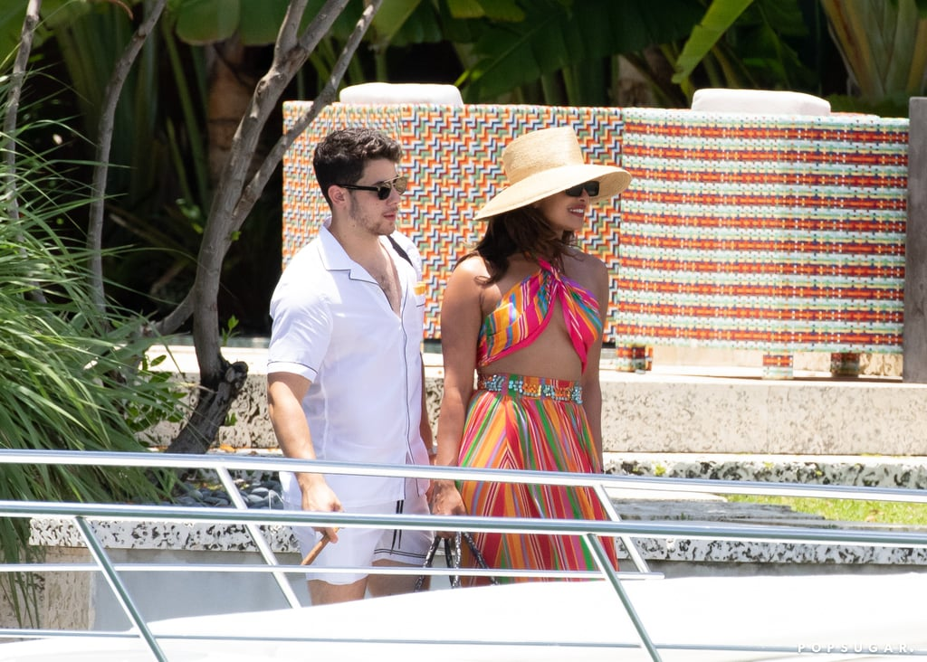Nick Jonas and Priyanka Chopra in Miami July 2019
