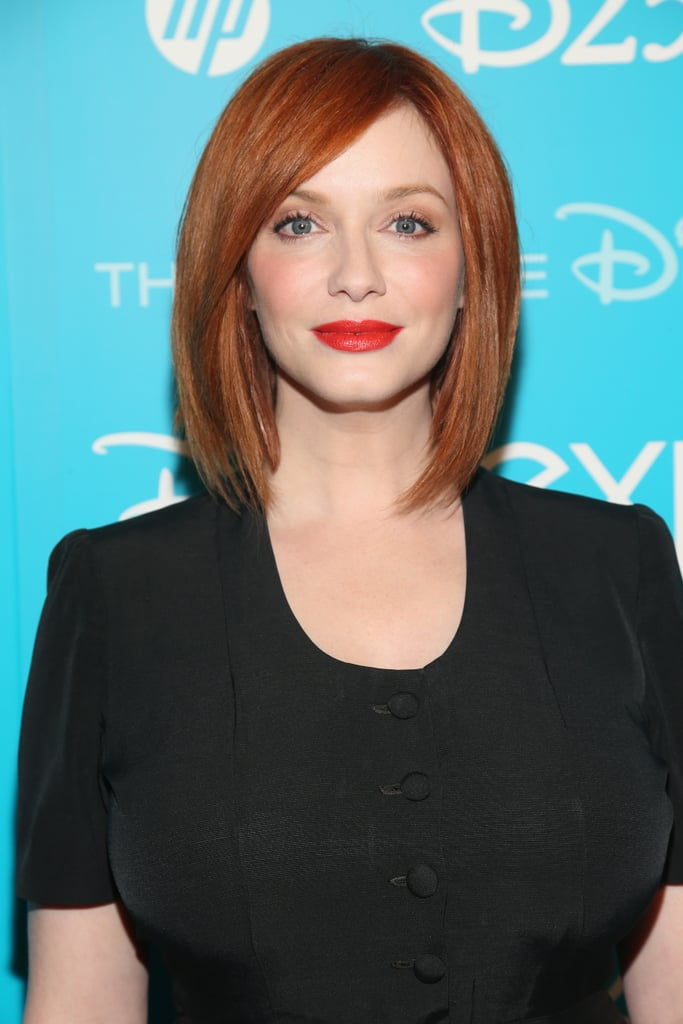 She can rock a vintage style like no other, but Christina Hendricks with straight hair is twice as nice.