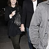 Emily Blunt laughed on a date with John Krasinski.