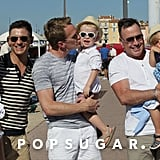 Neil Patrick Harris, David Burtka, and David Furnish posed together while on vacation in the South of France.