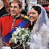 Matt Lauer and Ann Curry as Prince William and Kate Middleton.