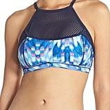 Zella Mesh Inset Bikini Top