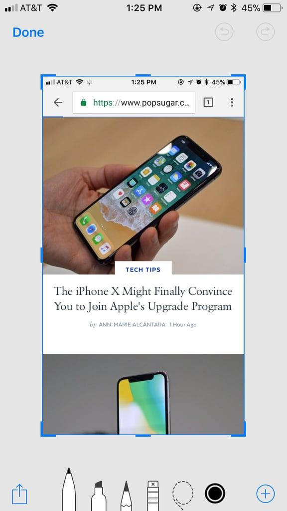 Easily mark up screenshots before sending them.