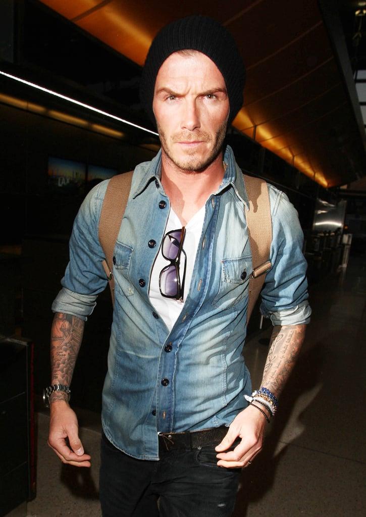 Photos of David Beckham At LAX