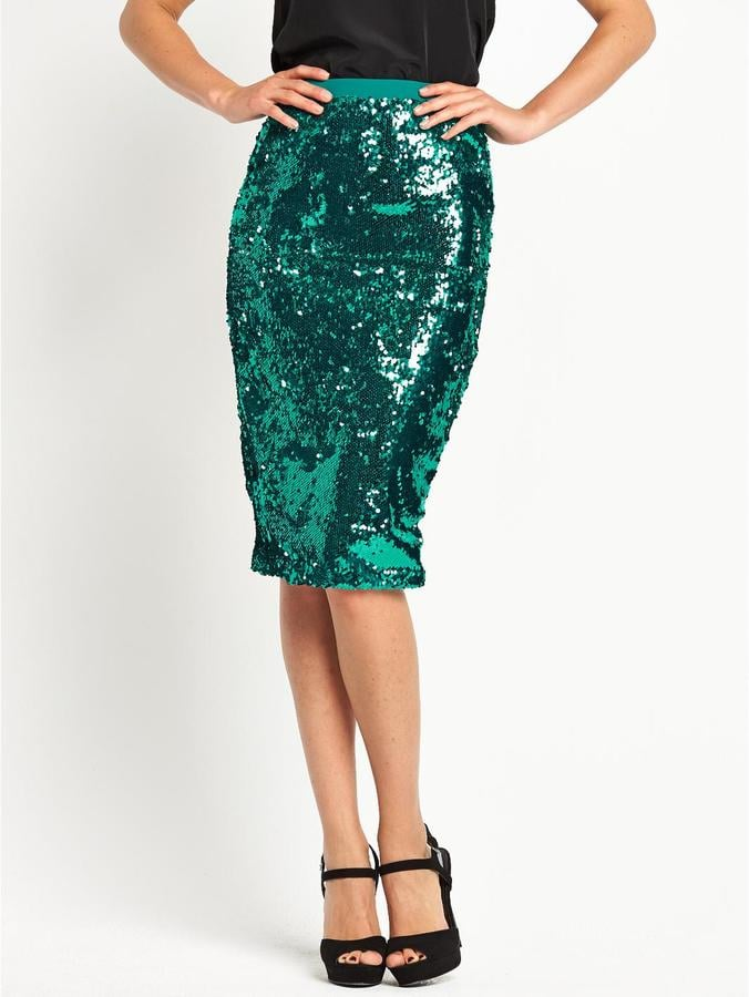 Definitions Sequin Pencil Skirt