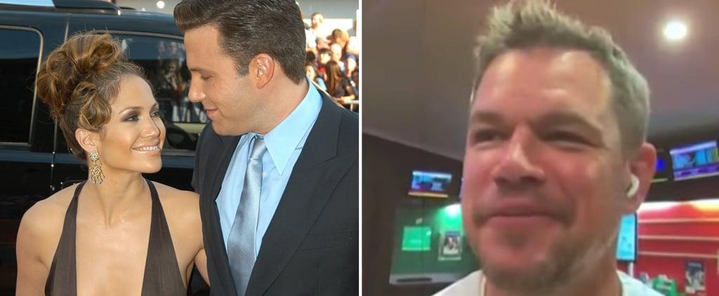 Matt Damon Reacts to Ben Affleck and Jennifer Lopez News