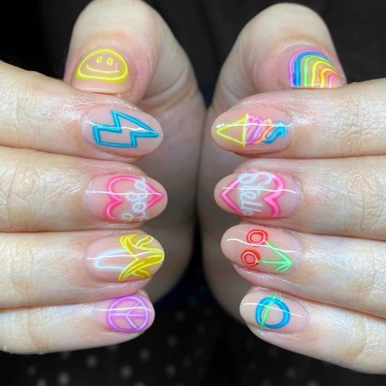 Neon Sign Nail Art Trend