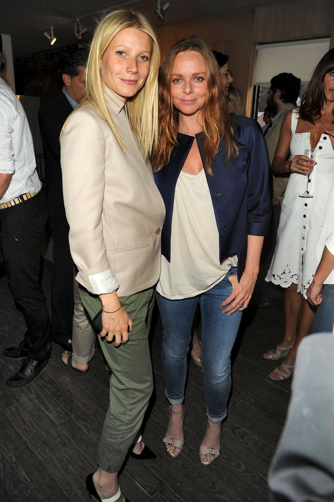 Gwyneth and Stella kept it cool in cargos, denim, and statement jackets at the designer's Spring 2011 presentation in NYC in June 2010.