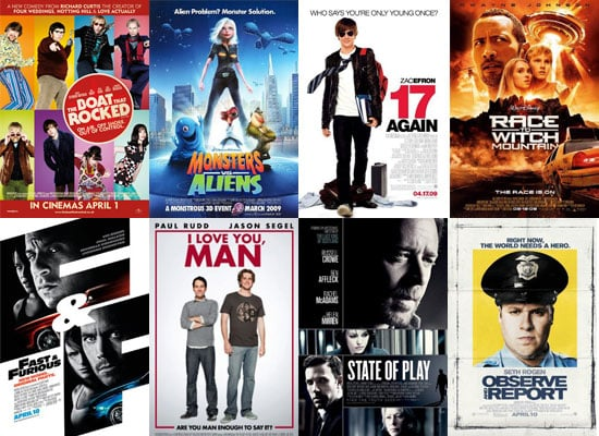 Movies Films Released in UK Cinemas in April 2009