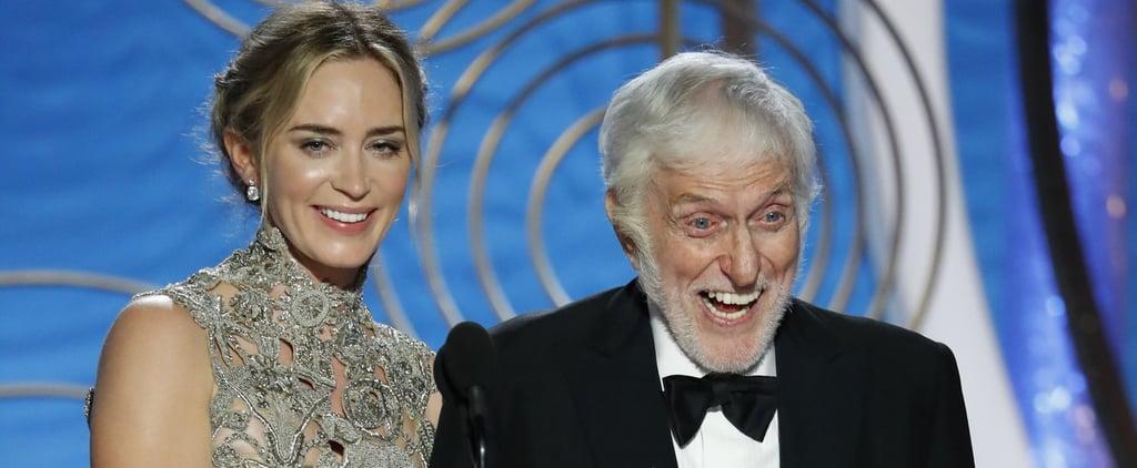 Dick Van Dyke and Emily Blunt at 2019 Golden Globe Awards