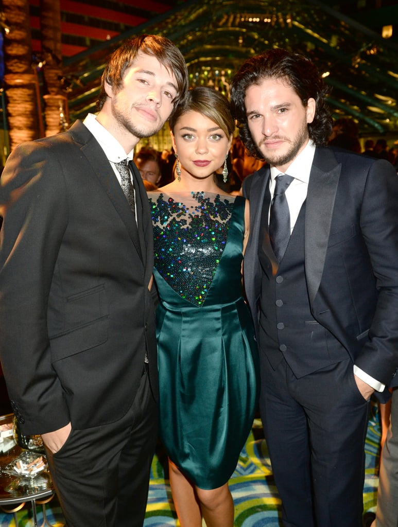 Sarah Hyland hung out with handsome stars Matt Prokop and Kit Harington at the 2013 HBO Emmys afterparty.