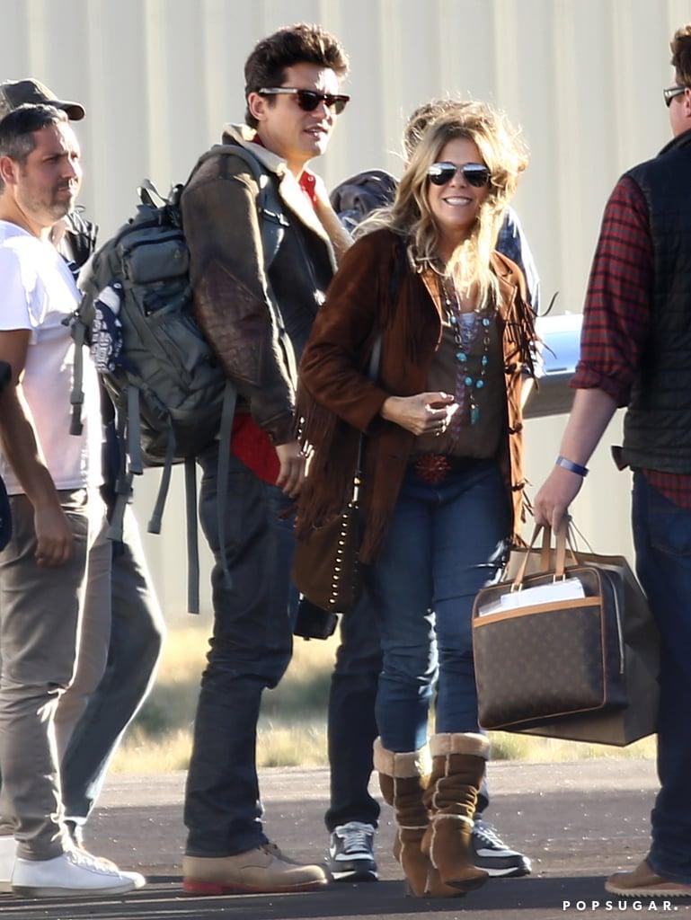 Rita Wilson was spotted alongside John Mayer.